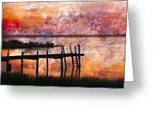 Smoldering Sunrise Greeting Card