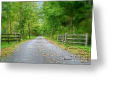 Smooth Paths Greeting Card