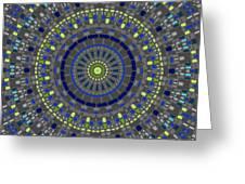 Smooth Squares Kaleidoscope Greeting Card
