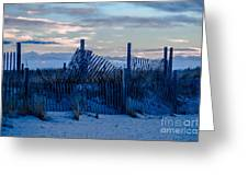 Smuggler's Beach Fence Greeting Card