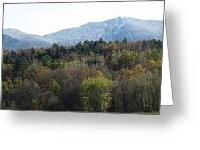 Smugglers Notch From Cambridge Vermont Greeting Card