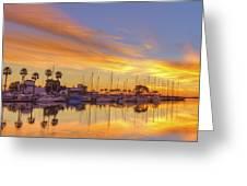 Smyrna Yacht Club Sunrise II Greeting Card