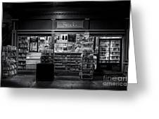 Snack Shop Bw Greeting Card