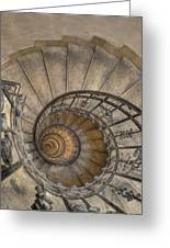 Snailing Stairs Greeting Card