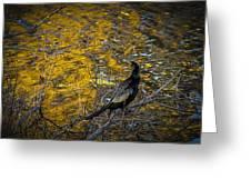 Snake Bird Greeting Card