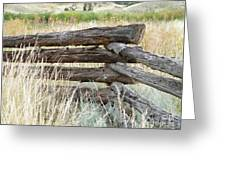 Snake Fence And Sage Brush Greeting Card