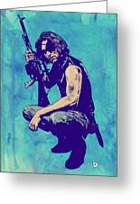Snake Plissken Greeting Card by Giuseppe Cristiano