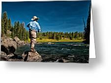 Snake River Cast Greeting Card