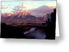 Snake River Overlook At Dawn  Greeting Card