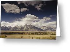Snake River Valley Grand Teton Np Greeting Card