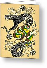 Snake Roll Japanese Style Tattoo Snake W Snake Roll Sushi Canvas