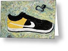 Sneaker And Sportcars Greeting Card by Mark Stiles