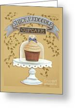 Snickerdoodle Cupcake Greeting Card by Catherine Holman
