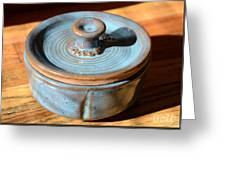 Snickerhaus Pottery-vessel With Lid Greeting Card