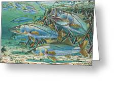 Snook Attack In0014 Greeting Card