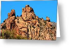 Snoopy Rock - Sabino Canyon Tucson Arizona  Greeting Card