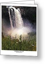Snoqualmie Falls Wa. Greeting Card