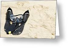Snorkel Equipment Greeting Card