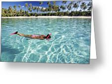 Snorkeling In Polynesia Greeting Card