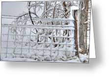 Snow - Ice - Fence Greeting Card
