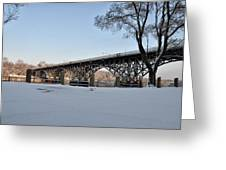 Snow Along Kelly Drive Greeting Card