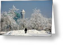 Snow And Ice Greeting Card