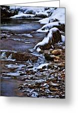 Snow And Ice Water And Rock Greeting Card by Dale Kincaid