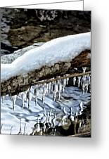 Snow And Icicles No. 1 Greeting Card