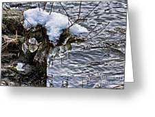 Snow And Icicles No. 2 Greeting Card