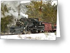 Snow And Steam Greeting Card