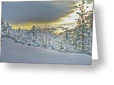 Snow And The Sierra Highway 88 Greeting Card