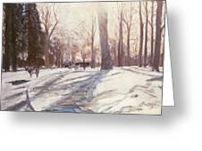Snow At Broadlands Greeting Card