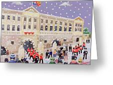 Snow At Buckingham Palace Greeting Card by William Cooper