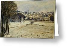 Snow At Marly-le-roi Greeting Card