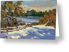 Snow At Martha Lake Greeting Card