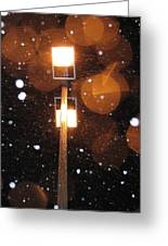 Snow At Night - 1777 Greeting Card
