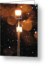 Snow At Night -  1778 Greeting Card