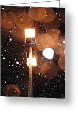 Snow At Night - 1779 Greeting Card