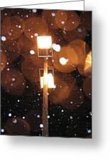 Snow At Night - 1780 Greeting Card