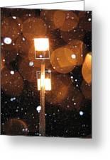 Snow At Night - 1781 Greeting Card
