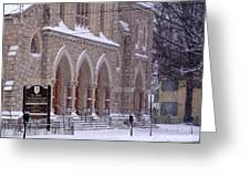 Snow At St. John's Greeting Card