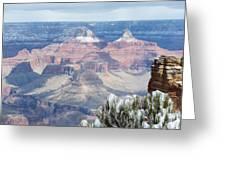 Snow At The Grand Canyon Greeting Card