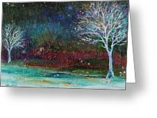 Snow At Twilight Greeting Card