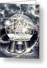Snow Ball Greeting Card by Mo T