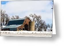 Snow Barn Greeting Card