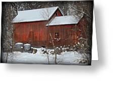 Snow Barn II Greeting Card