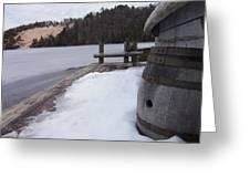 Snow Barrel Greeting Card