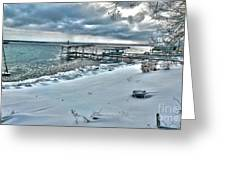 Snow Beach Greeting Card