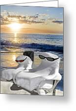 Snow Bird Vacation Greeting Card