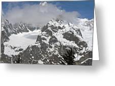 Snow Bowl In Italian Alps Greeting Card